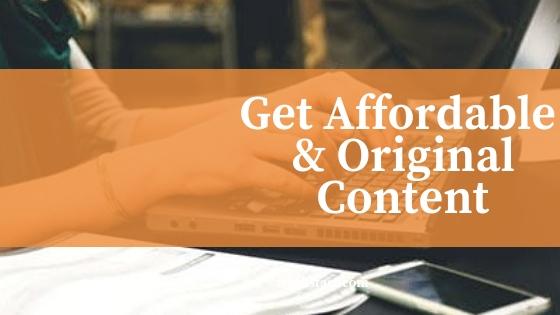 Get Affordable and 100% Original Content | Online Homework Help